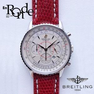 ブライトリング メンズ腕時計 モンブリラン A41370 SS/革 ホワイト文字盤 中古 新入荷 お...
