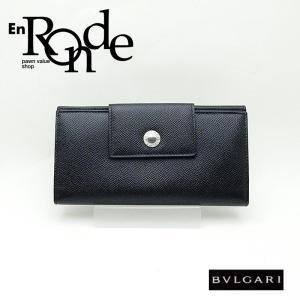 ブルガリ BVLGARI 長財布 ブルガリ 長財布 レザー 黒 未使用品 新入荷|ronde