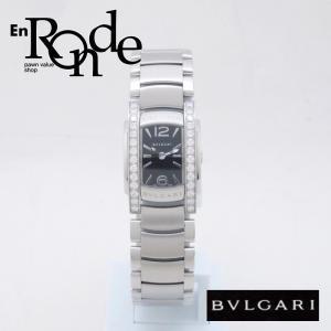 ブルガリ BVLGARI レディース腕時計 アショーマ AA26S SS/ダイヤ ブラック文字盤 中古 新入荷 おすすめ BV0094 新着|ronde