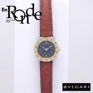 ブルガリ BVLGARI レディース腕時計 ブルガリブルガリ BB23SGL SS/YG/革 ブラック文字盤 中古 新入荷 おすすめ BV0097 新着|ronde