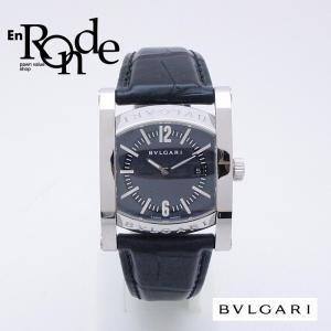 ブルガリ BVLGARI レディース腕時計 ブルガリ アショーマ AA39S SS/革 ブルーグレー文字盤 中古 新入荷 おすすめ|ronde