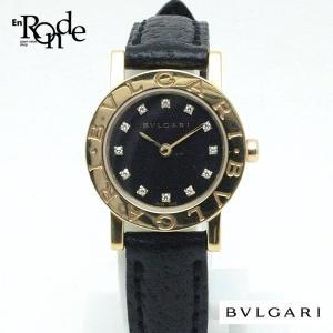 ブルガリ BVLGARI レディース時計 ブルガリブルガリ BB23GL K18YG/革 黒文字盤 中古|ronde
