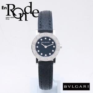 ブルガリ BVLGARI レディース腕時計 ブルガリブルガリ BB23SL SS(ステンレス)/革 12PD ブラック文字盤 中古 新入荷 おすすめ BV0087|ronde