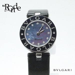 ブルガリ BVLGARI レディース時計 Bzero1 ビーゼロ1 BZ22S ステンレス/革/ダイヤモンド シェル文字盤 中古