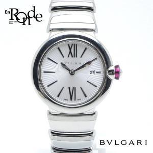ブルガリ BVLGARI レディース時計 ルチェア LV285 ステンレス ギョーシエ文字盤 中古|ronde