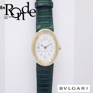ブルガリ BVLGARI レディース時計 オーバル OV27G K18/リザード ホワイト文字盤 中古 新入荷 おすすめ BV0096 新着|ronde