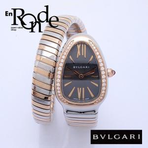ブルガリ BVLGARI レディース腕時計 セルペンティー トウボガス SP35SPG SS/PG ダイヤ ブラック文字盤 中古 新入荷 おすすめ BV0090 ronde