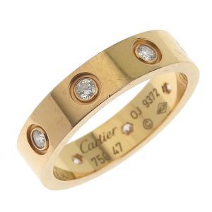 カルティエ CARTIER ラブリング 指輪 K18 ダイヤモンド #47 7号 アクセサリー 中古 新入荷 CA0387|ronde
