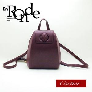 カルティエ Cartier バッグ リュック マストライン レザー ボルドー 中古 新入荷 おすすめ CA0375|ronde