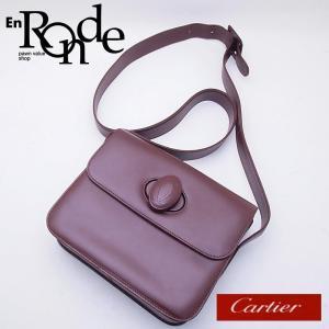 カルティエ Cartier ショルダーバッグ ショルダーバッグ マストライン ターンロック レザー ボルドー 中古 新入荷 おすすめ CA0377|ronde