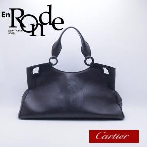 カルティエ Cartier トートバッグ マルチェロ レザー ブラック 中古 新入荷 CA0127|ronde