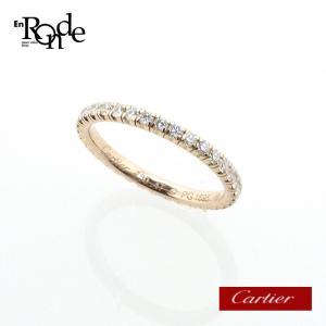 カルティエ Cartier 指輪リング フルエタニティリング K18PG(ピンクゴールド)ダイヤモンド ピンクゴールド 中古