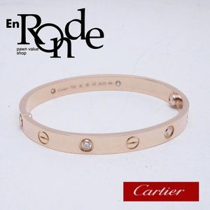 カルティエ Cartier ブレスレットバングル ラブブレス K18PG/ダイヤ ピンクゴールド 中古 新入荷 おすすめ CA0373|ronde