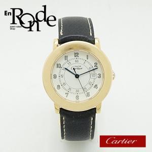 カルティエ Cartier レディース時計 マスト2 ヴェルメイユ GP(金メッキ)/革 ホワイト文字盤 中古 新入荷 おすすめ|ronde
