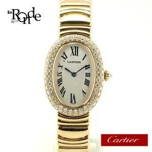 カルティエ Cartier レディース時計 ベニュワール K18/ベゼルダイヤ2重 白文字盤 中古