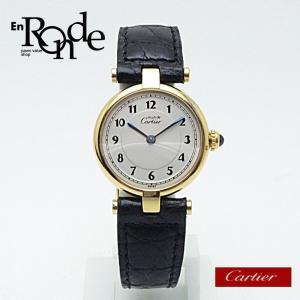 カルティエ Cartier レディース腕時計 マスト ヴェルメイユ SV(シルバー)/革 白文字盤 中古 新入荷 おすすめ|ronde