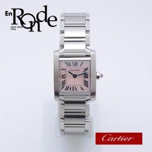 カルティエ Cartier レディース腕時計 タンクフランセーズSM SS ピンクシェル文字盤 中古 新入荷 おすすめ|ronde