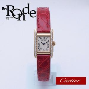 カルティエ Cartier レディース腕時計 ミニタンク K18/革/ダイヤモンド入り アイボリー文字盤 中古 新入荷 おすすめ 新着|ronde