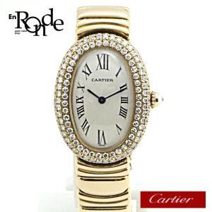 カルティエ Cartier レディース時計 ベニュワール K18YG/ベゼルダイヤ3重 白文字盤 中古 新着|ronde