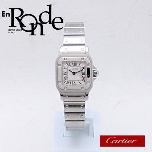 カルティエ Cartier レディース腕時計 サントス ガルベ SS(ステンレス) アイボリー文字盤 中古 新入荷 おすすめ CA0367 ronde