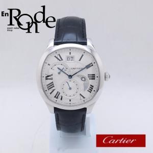 カルティエ Cartier メンズ腕時計 ドライブ ドゥ カルティエ 2タイムゾーン SS(ステンレス)/革 シルバー文字盤 中古 新入荷 おすすめ CA0372|ronde