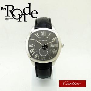 カルティエ Cartier メンズ腕時計 ドライブドゥカルティエ SS(ステンレス)/革 ブラック文字盤 中古 新入荷 おすすめ CA0371|ronde