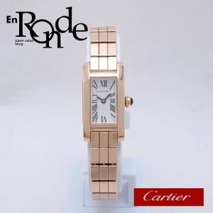 カルティエ Cartier レディース腕時計 タンクアロンジェラニエール K18PG シルバー文字盤 中古 新入荷 おすすめ CA0380|ronde