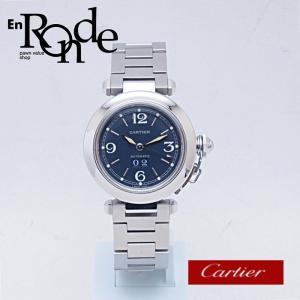 カルティエ Cartier メンズ腕時計 パシャC ビッグデイト SS(ステンレス) ネイビー文字盤 中古 新入荷 おすすめ CA0369|ronde