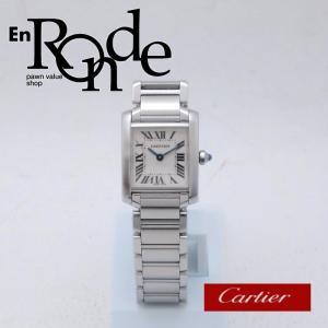 カルティエ Cartier レディース腕時計 タンクフランセーズSM SS(ステンレス) アイボリー文字盤 中古 新入荷 おすすめ CA0365|ronde
