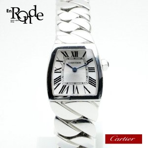 カルティエ Cartier レディース時計 ラドーニャSM 94210LX K18WG(ホワイトゴールド) シルバー文字盤 中古|ronde
