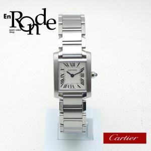 カルティエ Cartier レディース腕時計 タンクフランセーズSM W51008Q3 SS(ステンレス) アイボリー文字盤 中古 新入荷|ronde