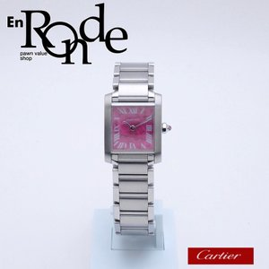 カルティエ Cartier レディース腕時計 タンクフランセーズSM W51030Q3 SS ピンク文字盤 中古 新入荷 おすすめ CA0381 新着|ronde