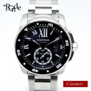 カルティエ Cartier メンズ時計 カリブルダイバー W7100057 ステンレス 黒文字盤 中古|ronde