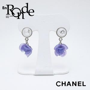 シャネル CHANEL ピアスイヤリング シャネル ピアス カメリア ココマーク 紫/シルバー 中古 新入荷 おすすめ|ronde