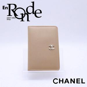 シャネル CHANEL 財布 カードケース レザー ベージュ 中古 新入荷 おすすめ CH0534 新着|ronde