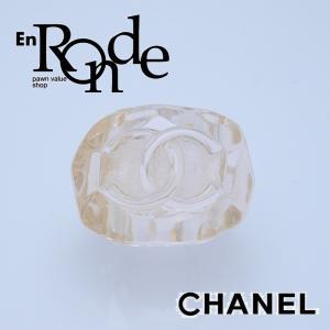 シャネル CHANEL 指輪リング アクリルリング ココマーク 透明ややイエロー 中古 新入荷 おすすめ CH0478|ronde