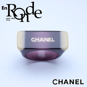 シャネル CHANEL 指輪リング リング シャネルロゴ パープル 中古 新入荷 おすすめ CH0515 新着|ronde