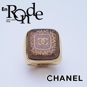 シャネル CHANEL 指輪リング リング ココマーク シグネットタイプ ブラウン 中古 新入荷 おすすめ CH0407|ronde