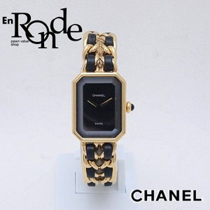 シャネル CHANEL レディース腕時計 プルミエール #M GP/革 ブラック文字盤 中古 新入荷 おすすめ CH0481 ronde