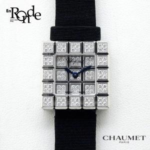 ショパール レディース時計 ショパール アイスキューブ K18/サテン/ダイヤモンド 中古|ronde