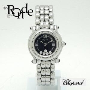ショパール レディース腕時計 ハッピースポーツ 27/8250-23 SS(ステンレス) ブラック文字盤 中古 新入荷 おすすめ 新着|ronde