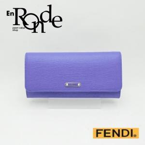フェンディ 長財布 長財布 コンチネンタル 8M0251 レザー 紫 未使用品 新入荷 新着 ronde