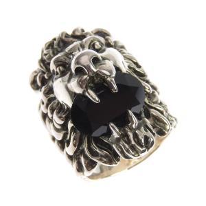 グッチ GUCCI ライオンヘッド リング 指輪 ブラッククリスタル入 シルバー色 #16 15.5号 アクセサリー 中古 新入荷 GU0281|ronde