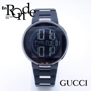 グッチ GUCCI メンズ腕時計 Iグッチ SS/ラバー 黒文字盤 中古 新入荷 おすすめ 新着|ronde