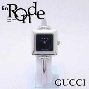 グッチ GUCCI レディース腕時計 バングルウォッチ 1000L SS(ステンレス) ブラック文字盤 中古 新入荷 おすすめ GU0185|ronde