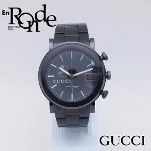 グッチ GUCCI メンズ腕時計 Gクロノ 101M SS(ステンレス) ブラック文字盤 中古 新入荷 おすすめ GU0214|ronde