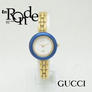 グッチ GUCCI レディース腕時計 チェンジベゼル 1100L-1200L GP(金メッキ) ホワイト文字盤 中古 新入荷 おすすめ GU0215|ronde
