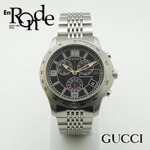 グッチ GUCCI メンズ腕時計 Gタイムレス クロノグラフ YA126205 SS(ステンレス) 黒文字盤 中古 新入荷 おすすめ|ronde