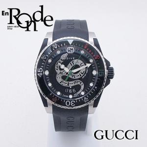 グッチ GUCCI メンズ腕時計 ダイブ YA136323 SS/ラバー スネークモチーフ文字盤 中古 新入荷 おすすめ 新着|ronde