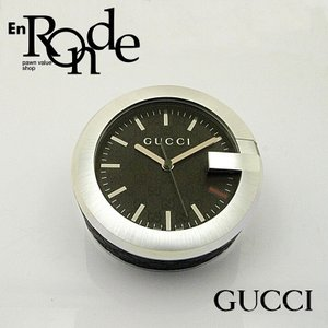 グッチ GUCCI その他の時計 テーブルクロック YC210008 SS/レザー 黒文字盤 中古 新入荷|ronde